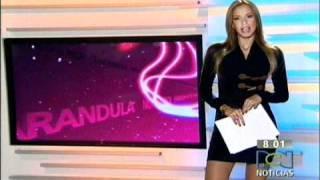 Laura Acuña y su vestido transparente en RCN