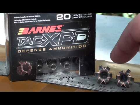 9mm Barnes TAC XPD short barrel ballistic gel test