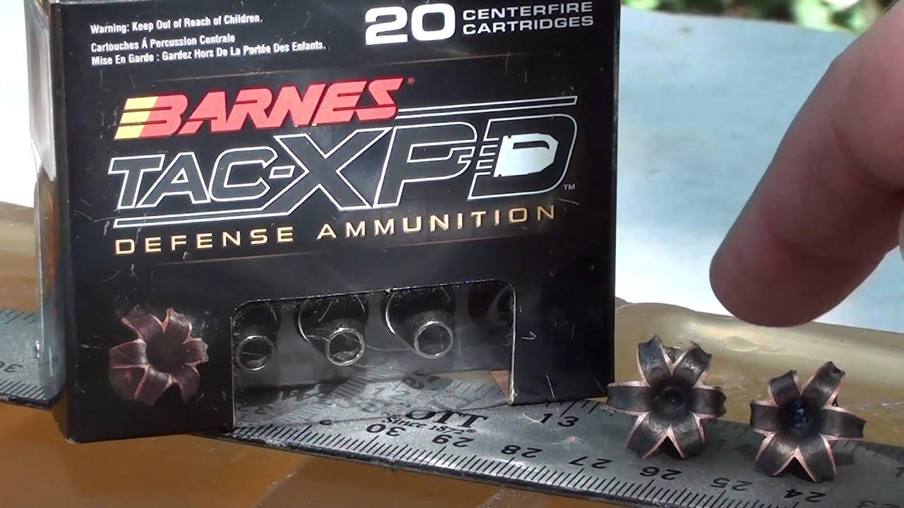 9mm Barnes Tac Xpd Short Barrel Ballistic Gel Test Youtube