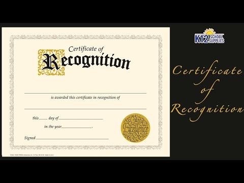 Best Award Certificate - Blank Certificate - Teacher Supplies