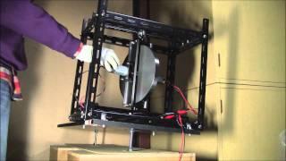 ジャイロ効果を用いたバランシングテスト1(手入力)Balancing test using Gyroscope.