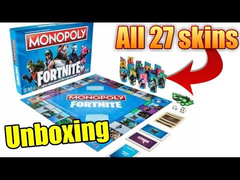 Fortnite Battle Royale Monopoly Board Game Unboxing Youtube