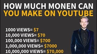 How much earning from youtube? How much money do Youtubers make?