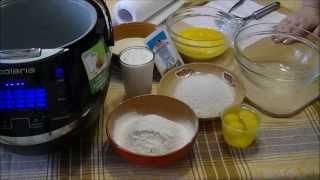 Домашние видео рецепты -  простой манник на сметане в мультиварке(ИНГРЕДИЕНТЫ: сливочное масло (200 гр), 3 яйца, 1 стакан сахара, ванильная пудра 2 ст.л., 1 стакан сметаны, разрых..., 2015-08-27T12:18:53.000Z)