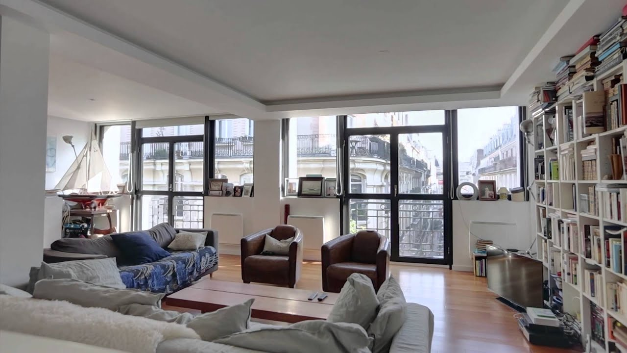 paris 14 me place d 39 al sia vente appartement loft 4 pi ces 135 m youtube. Black Bedroom Furniture Sets. Home Design Ideas