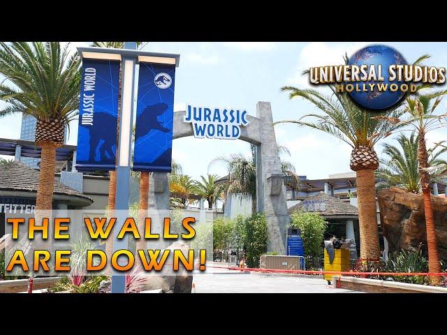 Jurassic World and Halloween Horror Nights Construction! | Universal Studios Hollywood Update