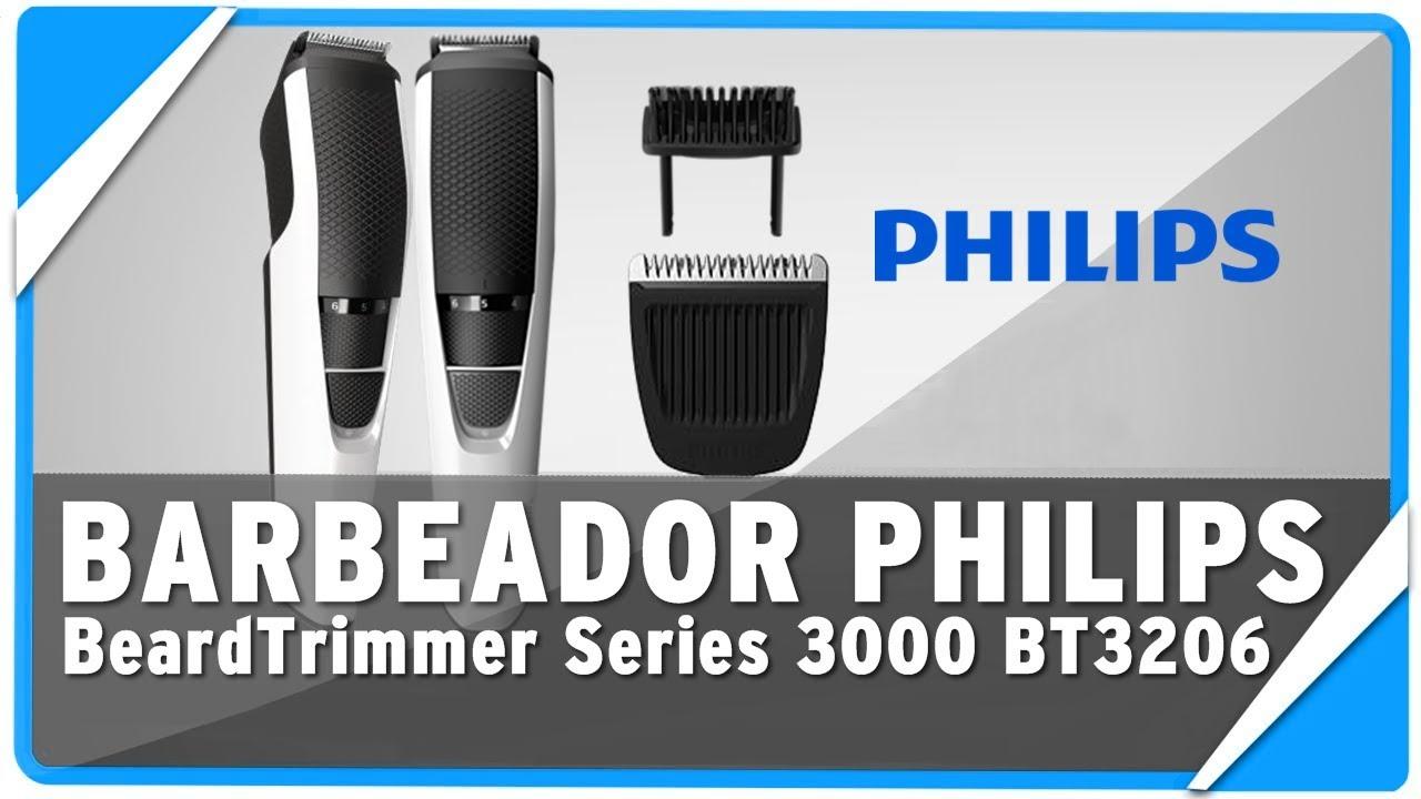 4617888a7 Barbeador Philips BeardTrimmer Series 3000 BT3206 14 - Review - YouTube