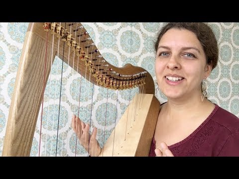 Intuitive Music on Celtic Harp #1 Easy Chord Patterns (Fifths)