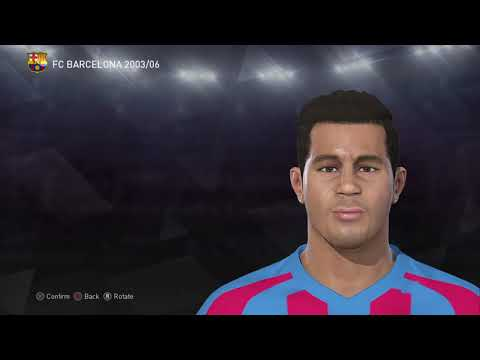 PES 2018 PATRICK KLUIVERT STATS FACE HAIR - CLASSIC FC BARCELONA