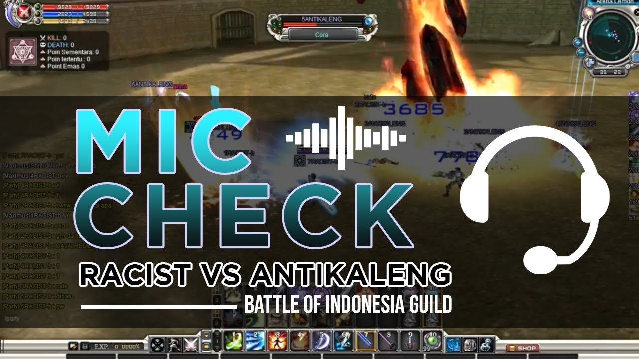 MIC CHECK RACIST vs ANTIKALENG - BATTLE OF INDONESIA GUILD