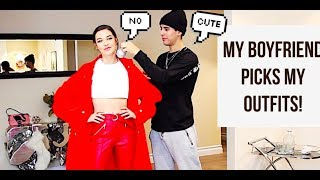 MY BOYFRIEND PICKS OUT MY OUTFITS! || Amanda Steele