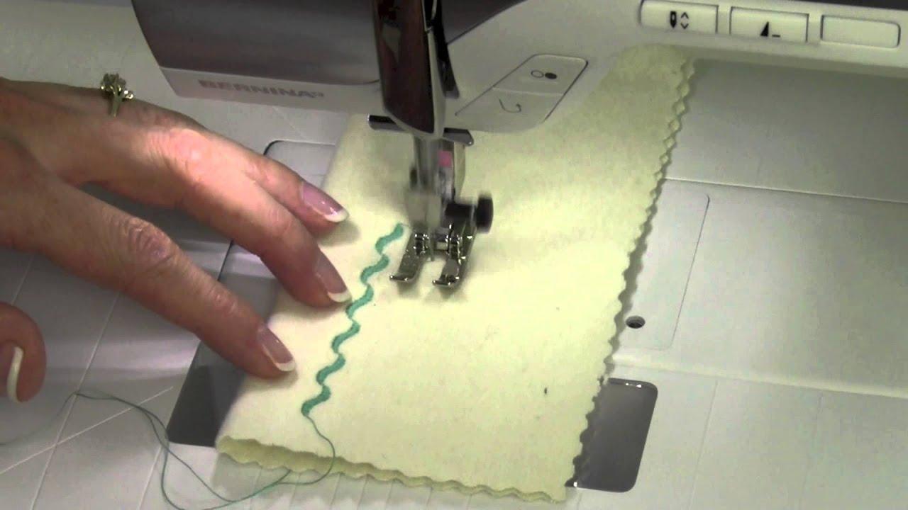 Bernina 350 22 Sewing Decorative Stitches Youtube