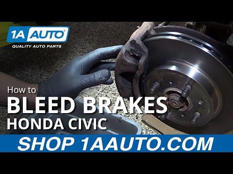 How to Bleed Brakes 01-05 Honda Civic