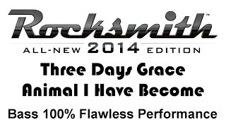 """Three Days Grace """"Animal I Have Become"""" Rocksmith 2014 bass 100% finger"""