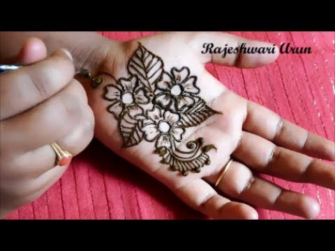 Eid Special Very Simple Easy Henna Mehndi Designs For Hands Step By