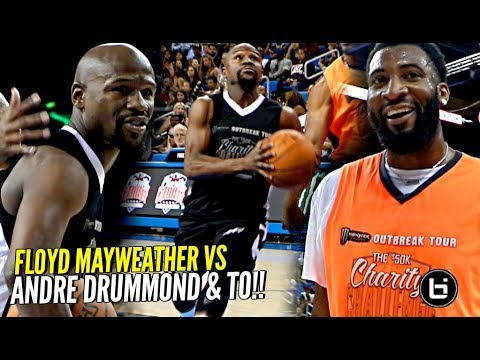 Floyd Mayweather vs Andre Drummond & TO! Floyd HOOPIN' But No Match For Dre! 😂 SHIGGY WAS THERE TOO