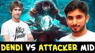 Dendi vs Attacker — LEGEND vs BEST Kunkka on mid