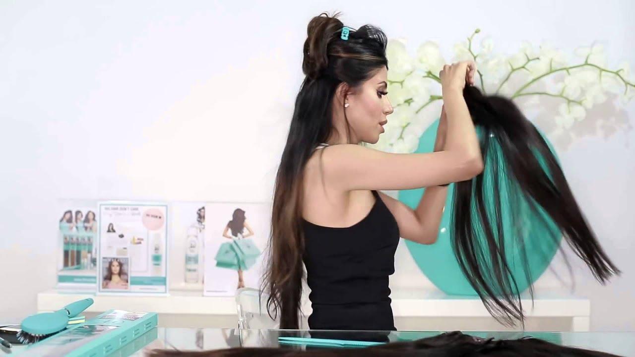 24 Length 200 Grams Clip In Hair Extensions Tutorial Leyla Milani