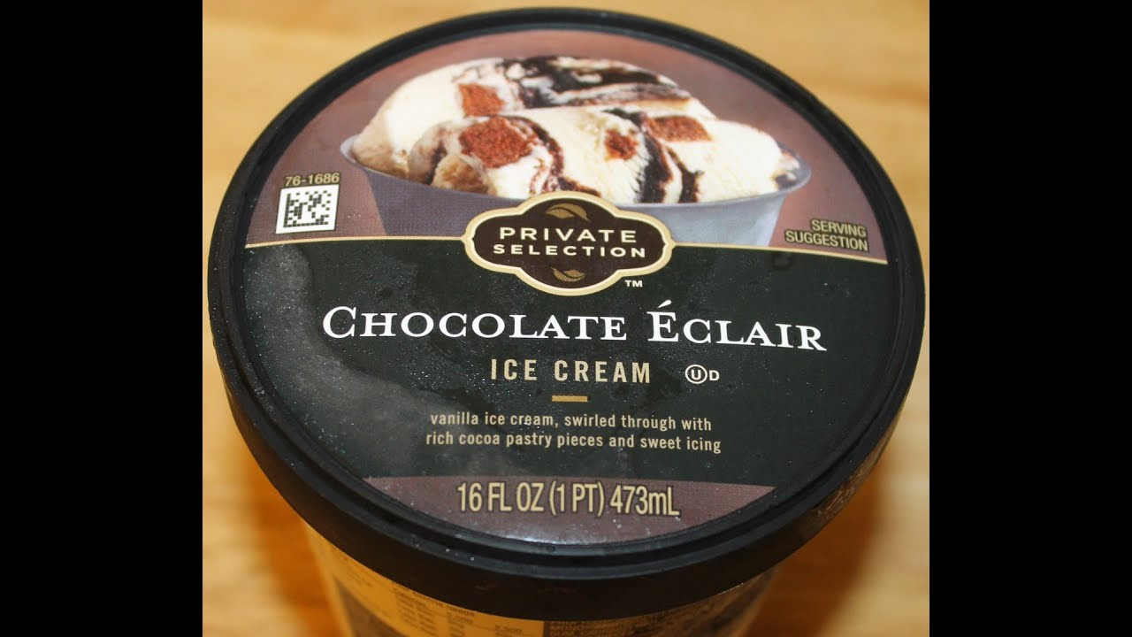 Private Selection: Chocolate Eclair Ice Cream Review - YouTube