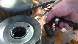 cub cadet 1527 deck pulley bearing replacement