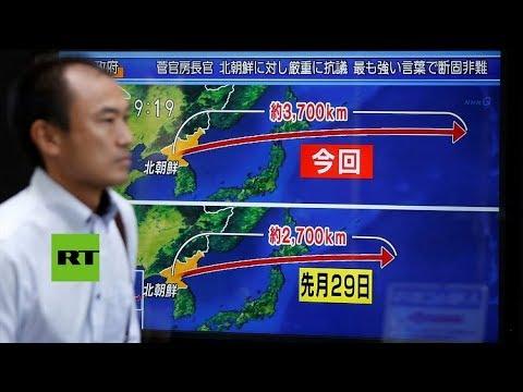 Corea del Norte lanza un misil balístico en dirección a Japón