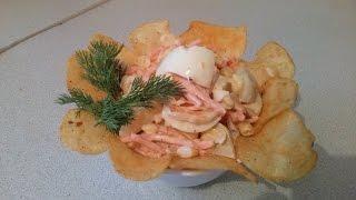 #5 Салат с чипсами. Невероятно вкусный