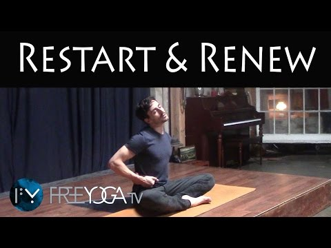 30 Days of Yoga - Day 3 | Restart & Renew | Stephen BeitlerTaha Yoga