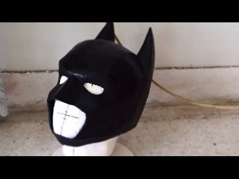 DIY Batman Cowl Part 3 Sanding Painting How to YouTube