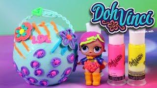 Play Doh Vinci • Ozdabianie kuli LOL i nowa fryzura lalki • LOL Surprise • Kreatywne zabawki