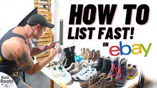 The FASTEST Way to List Stuff on eBay!