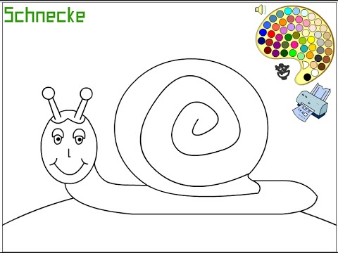 Snail Coloring Pages For Kids - Snail Coloring Pages - YouTube