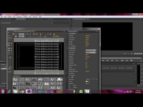 Animasi gambar / teks berjalan ini memakai fasilitas animasi in dan out yang dibuat dengan pengatura.