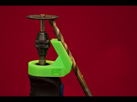 3D Printed Drill Bit Sharpening Adapter  YouTube