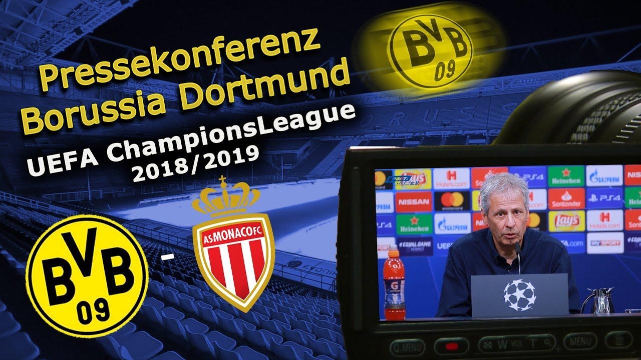 Borussia Dortmund - AS Monaco: Pk mit Manuel Akanji und Lucien Favre