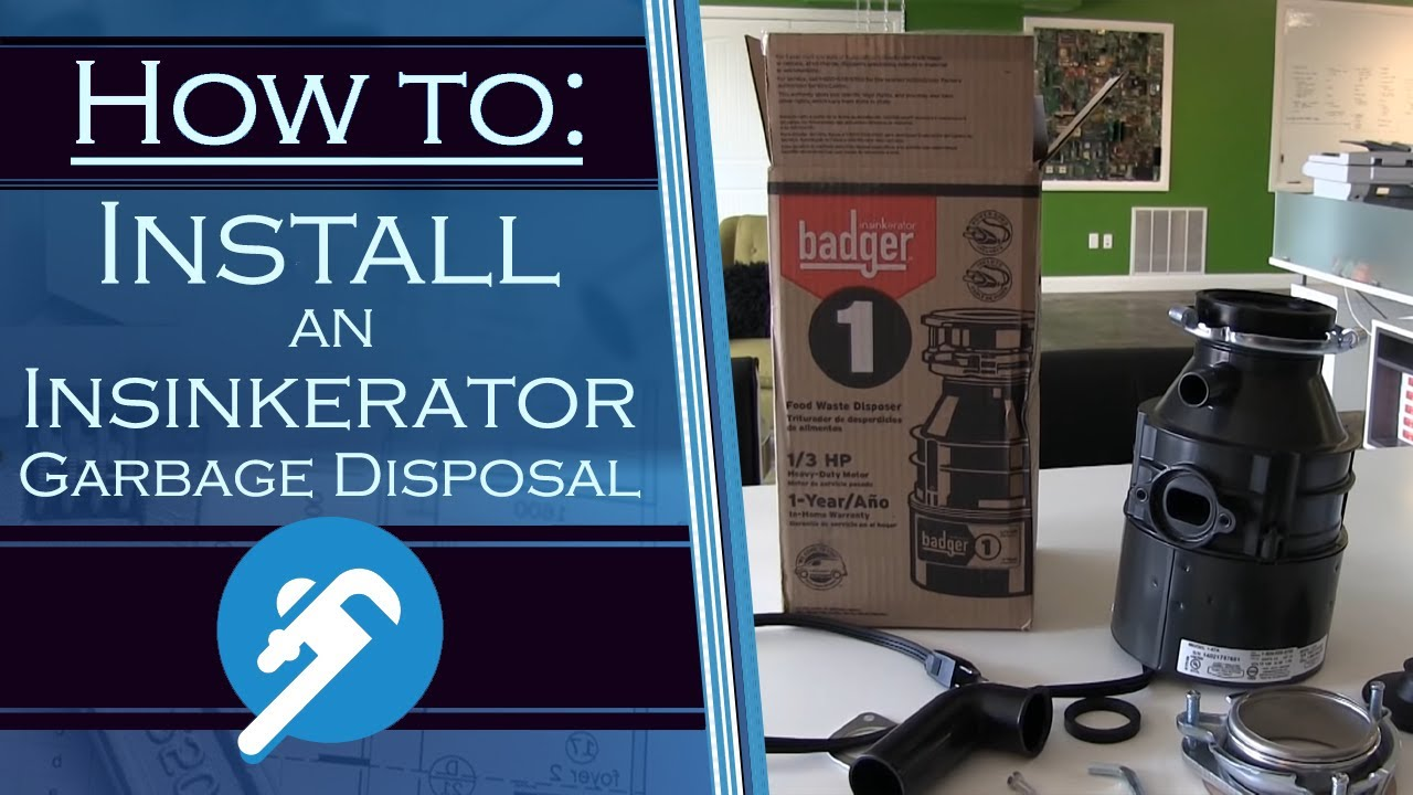 how to install an garbage disposal youtube - Badger 5