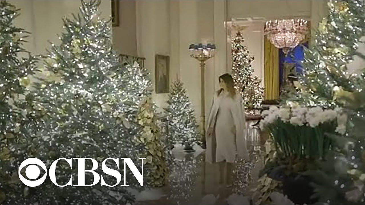 First Lady Melania Trump Reveals Christmas Decorations At The White House Youtube