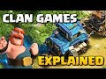 CLAN GAMES EXPLAINED - New Clash of Clans Update! CoC Clan Challenges and Magic Items Update 2017!