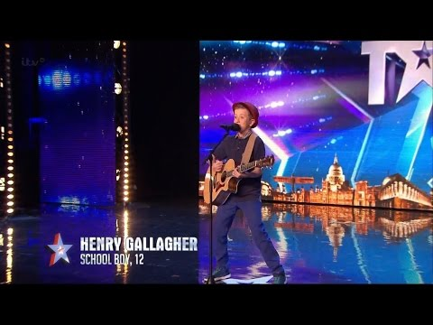 Britain's Got Talent 2015 S09E02 Henry Gallagher 12 Year Old Sings His Own Amazing Original Song