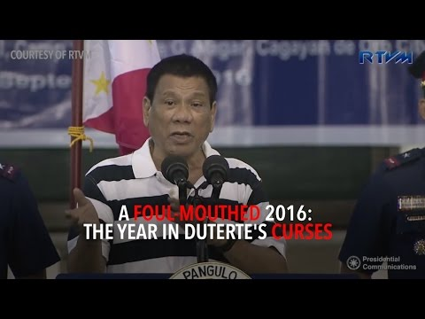 A foul-mouthed 2016: The year in Duterte's curses
