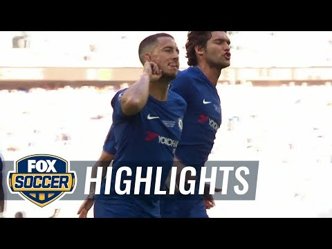 Eden Hazard converts penalty for Chelsea | 2017-18 FA Cup Final Highlights