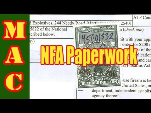 How to fill out BATF paperwork for a NFA firearm