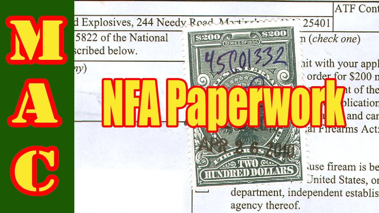 How to fill out BATF paperwork for a NFA firearm - YouTube