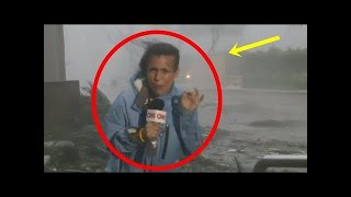 SEE What Happens With This Reporter as Hurricane Maria made landfall in Puerto Rico