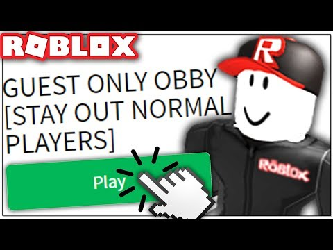 ONLY GUESTS CAN PLAY THIS ROBLOX GAME!!