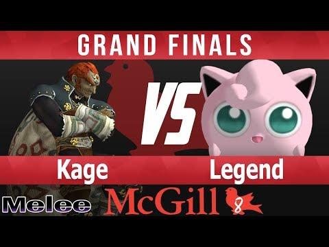 McGill 8 SSBM - Kage (Ganon) vs CAP Legend (Jigglypuff) - Grand Finals