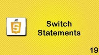JavaScript beginner tutorial 19 - switch statements