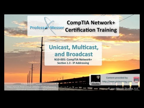 Understanding Unicast, Multicast, and Broadcast - CompTIA Network+ N10-005: 1.3