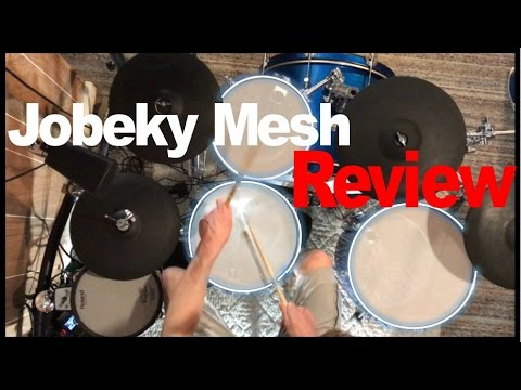 jobeky 3ply mesh drumhead review youtube. Black Bedroom Furniture Sets. Home Design Ideas