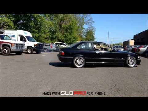 BMW e36 LSD Donut VS e34 Non-LSD Donut in Slow Motion. Bimerok LS1 v8 Swap.