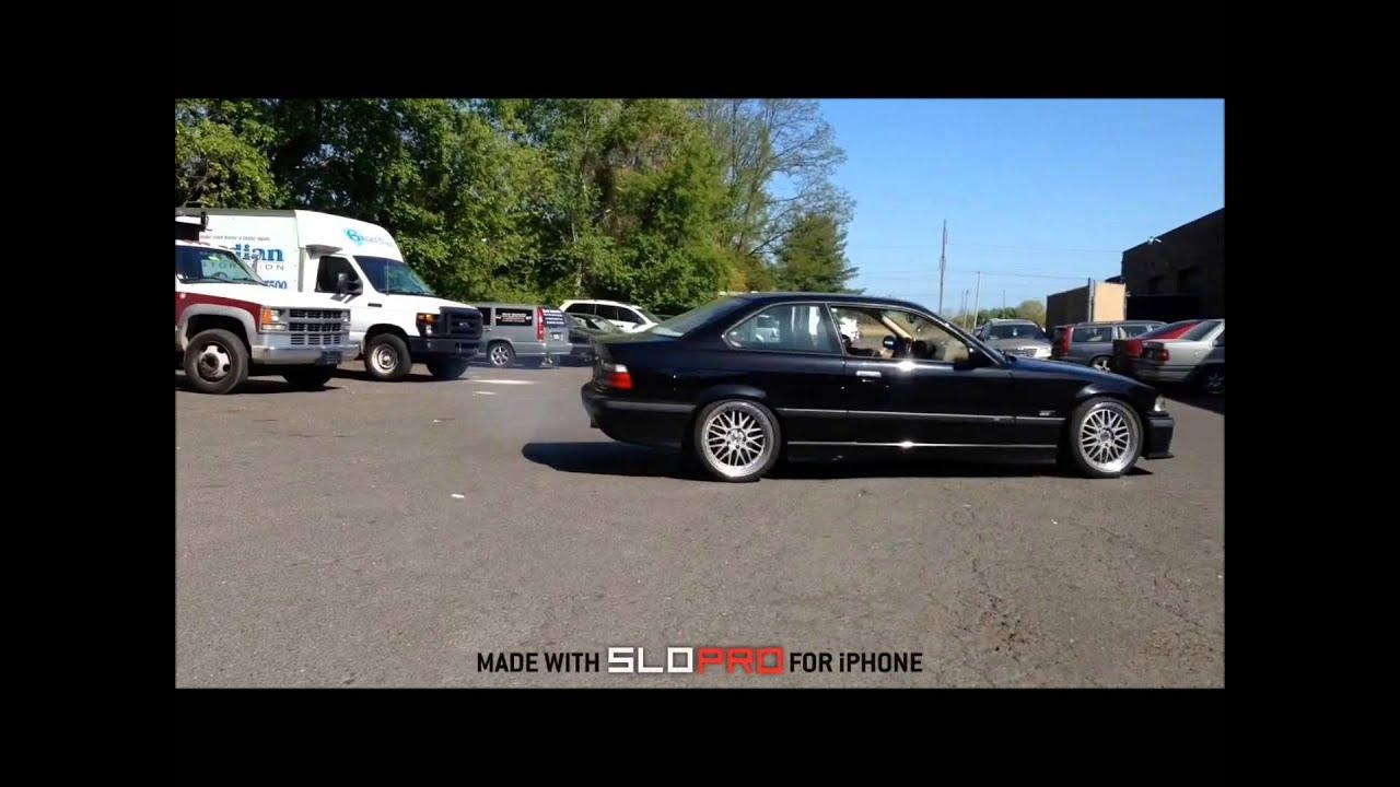 BMW e36 LSD Donut VS e34 NonLSD Donut in Slow Motion Bimerok LS1